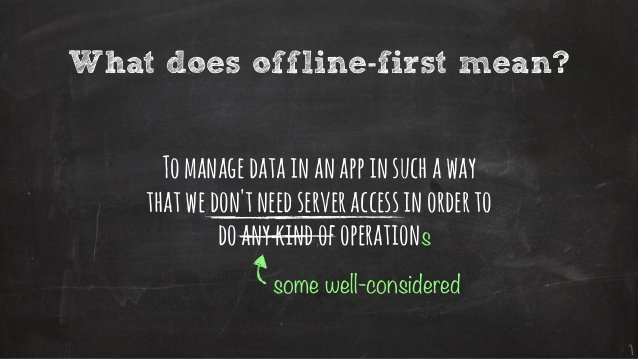What does offline-first really mean